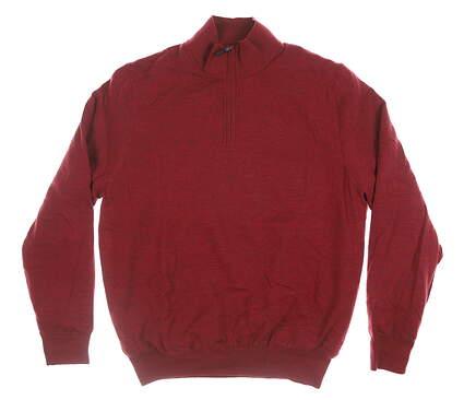 New Mens Fairway & Greene 1/4 Zip Wind Sweater Large L Maroon MSRP $199
