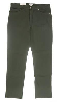 New Mens Peter Millar Sateen Stretch 5 Pocket Pants 40 Green MSRP $145 MF16B93