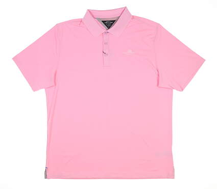 New W/ Logo Mens Adidas Golf Polo Large L Pink MSRP $80 DT3390