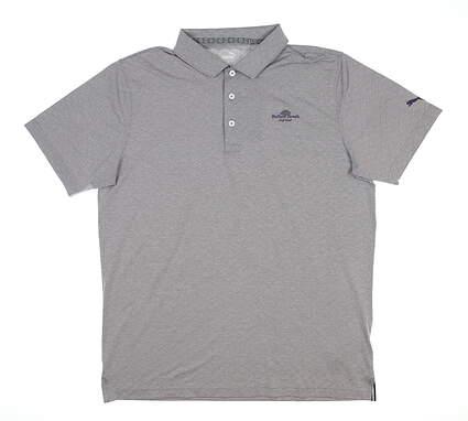 New W/ Logo Mens Puma Field Golf Polo Large L Purple MSRP $70 595714