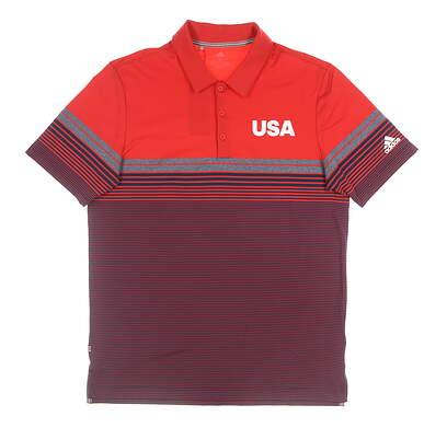 New Mens Adidas USA Ultimate Golf Polo XX-Large XXL Multi MSRP $80 EC5967