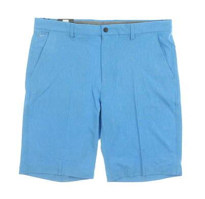 New Mens Greg Norman Golf Shorts 36 Blue MSRP $70 G7S9H901
