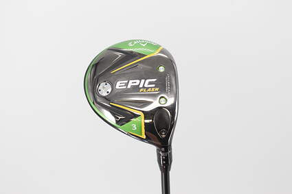 Callaway EPIC Flash Fairway Wood 3 Wood 3W 15° Project X HZRDUS Yellow 75 6.5 Graphite X-Stiff Right Handed 43.25in
