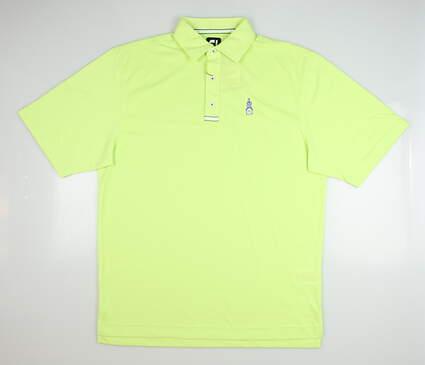 New W/ Logo Mens Footjoy Spun Poly Jersey Polo X-Large XL Green Apple MSRP $85