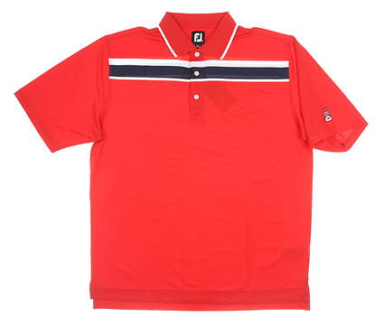 New W/ Logo Mens Footjoy Golf Polo X-Large XL Red MSRP $85