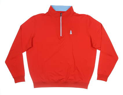 New W/ Logo Mens Footjoy 1/4 Zip Pullover X-Large XL Red MSRP $100 25025