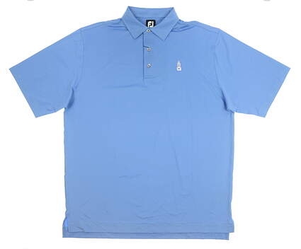 New W/ Logo Mens Footjoy Mini EOE Stripe Polo X-Large XL Blue MSRP $78 21704