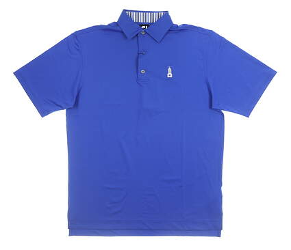 New W/ Logo Mens Footjoy Golf Polo Small S Blue MSRP $78 32919