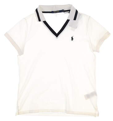 New Womens Ralph Lauren Golf Polo Large L White MSRP $99 281736871001
