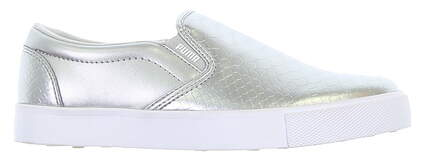 New Womens Golf Shoe Puma Tustin Slip On Medium 6 Silver MSRP $70 189424 03