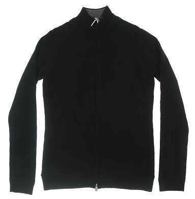 New Womens Bobby Jones Full Zip Sweatshirt Small S Black MSRP $195 BMW47006