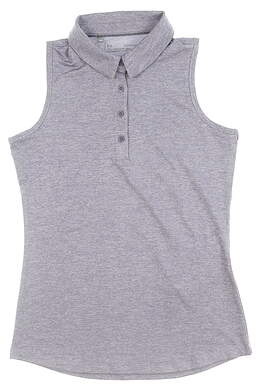 New Womens Under Armour Golf Sleeveless Polo X-Small XS Purple MSRP $60