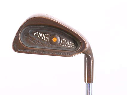 Ping Eye 2 Beryllium Copper Single Iron 3 Iron Ping Microtaper Steel Stiff Right Handed Orange Dot 39.25in