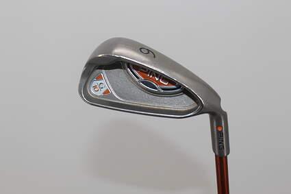 Ping G10 Single Iron 6 Iron Ping TFC 129I Graphite Tour Stiff Right Handed Orange Dot 37.5in