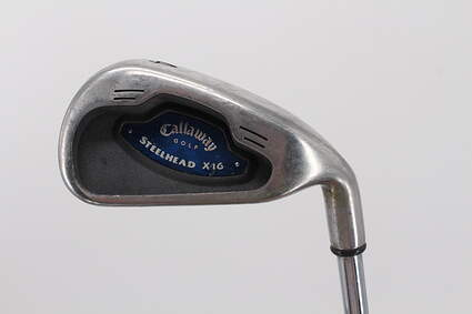 Callaway X-16 Single Iron 4 Iron Stock Steel Shaft Steel Uniflex Right Handed 38.5in