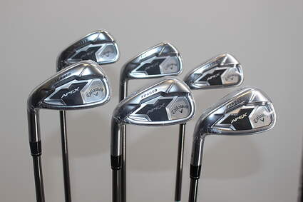 Mint Callaway Apex 19 Iron Set 5-PW Project X Catalyst 60 Graphite Regular Left Handed 38.0in