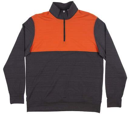 New Mens Dunning Fidden 1/4 Zip Pullover Large L Dark Charcoal/ Sub MSRP $109 D7S20K954