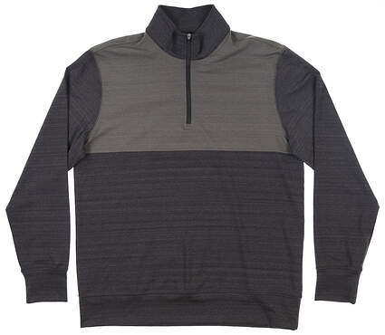 New Mens Dunning Fidden 1/4 Zip Pullover Large L Dark Charcoal/ Charcoal MSRP $109