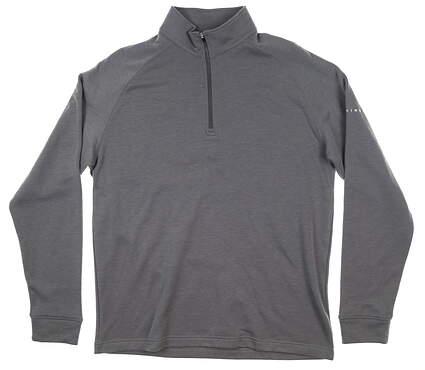 New Mens Dunning Skye 1/4 Zip Fleece Pullover Large L Gray MSRP $105