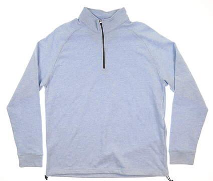 New Mens Dunning Natural Hand 1/4 Zip Pullover Large L Light Blue D7F16K914 MSRP $89