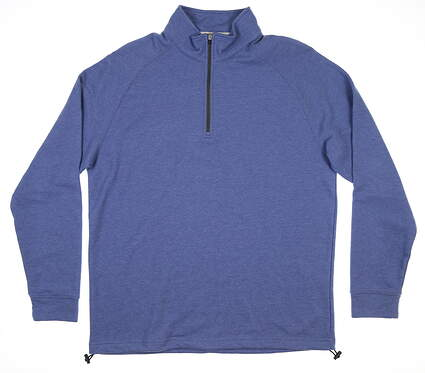 New Mens Dunning Natural Hand 1/4 Zip Pullover Large L Mid Blue MSRP $89