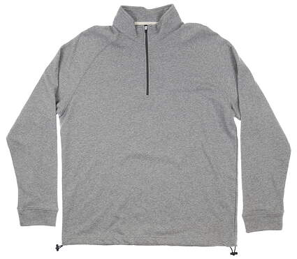 New Mens Dunning Natural Hand 1/4 Zip Pullover Large L Gray MSRP $89 D7F16K914