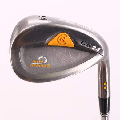 Cleveland CG14 Gunmetal Wedge Sand SW 54° 12 Deg Bounce Cleveland Traction Wedge Steel Wedge Flex Right Handed 35.0in