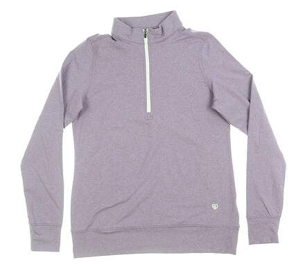 New Womens Straight Down Skye 1/4 Zip Pullover Small S Purple MSRP $104 W60303