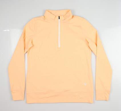New Womens Straight Down Skye 1/4 Zip Pullover Medium M Orange MSRP $104 W60303