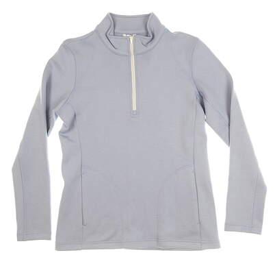 New Womens Straight Down Linda 1/4 Zip Pullover Medium M Purple MSRP $92 W60306