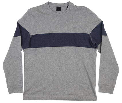 New Mens Dunning Kilmelford Crew Neck Large L Mid Grey/ Halo MSRP $105 D7S20K956