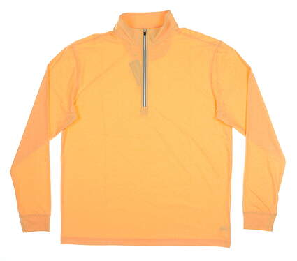 New Mens Straight Down Crusher 1/4 Zip Pullover Large L Orange MSRP $88 60372