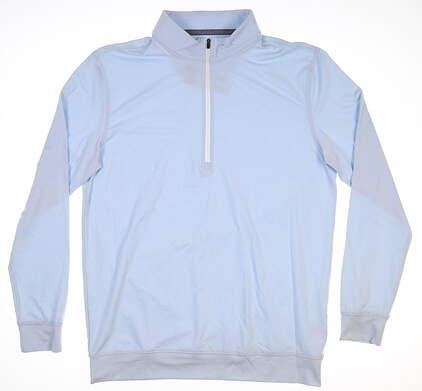 New Mens Straight Down Ballard 1/4 Zip Pullover Large L Blue MSRP $104 60473