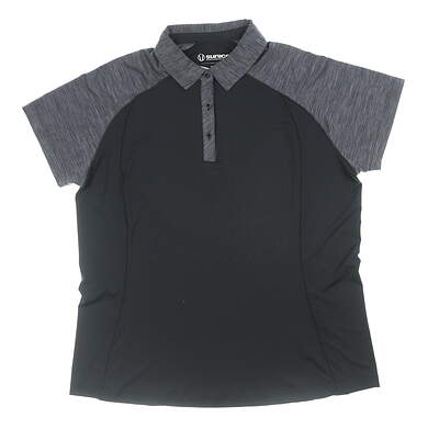 New Womens SUNICE Ashley Coollite Polo X-Large XL Black/ Grey MSRP $69 841529