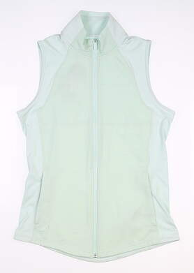 New Womens Adidas Sleeveless Polo X-Large XL Green MSRP $60 FK0631