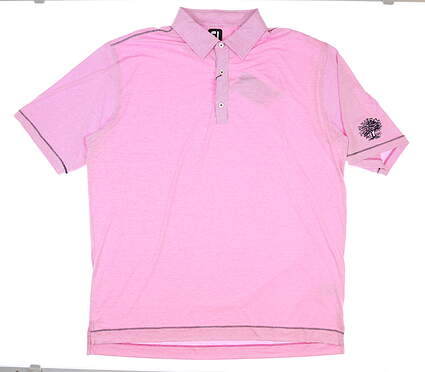 New Mens Footjoy Polo Large L Pink MSRP $95 26171
