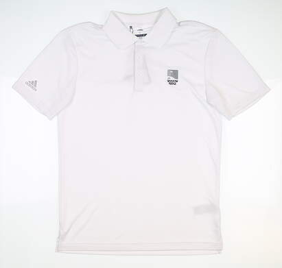 New W/ Logo Mens Adidas Polo Small S White MSRP $75 CD3321