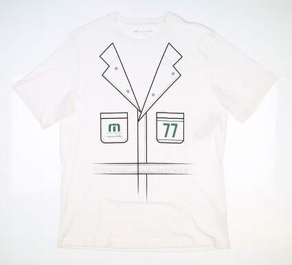 New Mens Travis Mathew Catch Up T-Shirt Medium M White MSRP $50 1MQ197