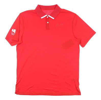 New W/ Logo Mens Nike Polo Medium M Red MSRP $60 BV0472