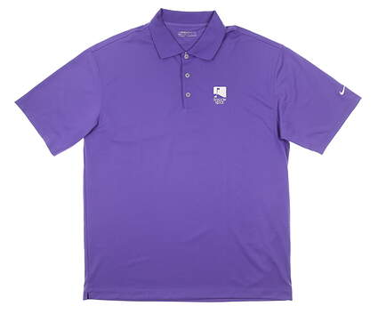 New W/ Logo Mens Nike Polo X-Large XL Purple MSRP $75 128898