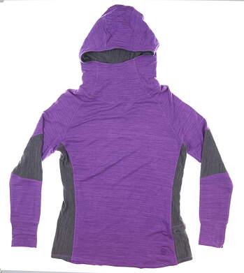 New W/ Logo Womens Footjoy French Terry Cowl Neck Hoodie Medium M Purple MSRP $95 27293