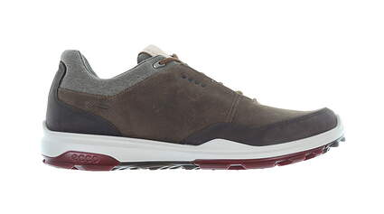 New Mens Golf Shoe Ecco BIOM Hybrid 3 43 (9-9.5) Extra Width Brown MSRP $200 155804 01034