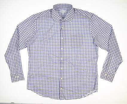 New Mens Peter Millar Button Down X-Large XL White MSRP $125 MS20W36CSL
