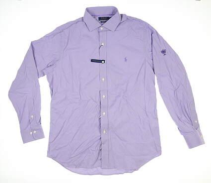 New W/ Logo Mens Ralph Lauren Button Down Large L Purple MSRP $125