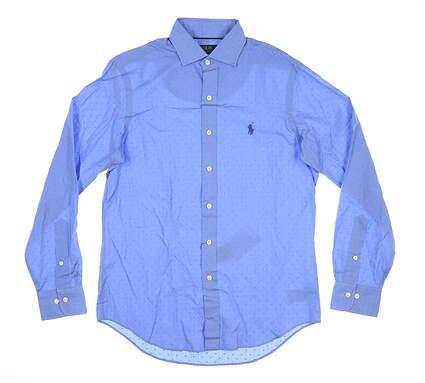New Mens Ralph Lauren Button Up Small S Blue MSRP $150