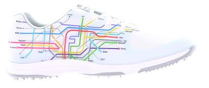 New Womens Golf Shoe Footjoy Leisure Medium 7.5 White/Multi MSRP $110 92913
