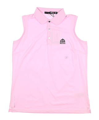 New W/ Logo Womens Ralph Lauren RLX Sleeveless Polo Medium M Pink MSRP $100