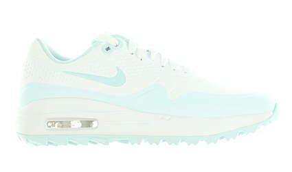 New Womens Golf Shoe Nike Air Max 1 G Medium 7 White/Blue MSRP $120 AQ0865 101