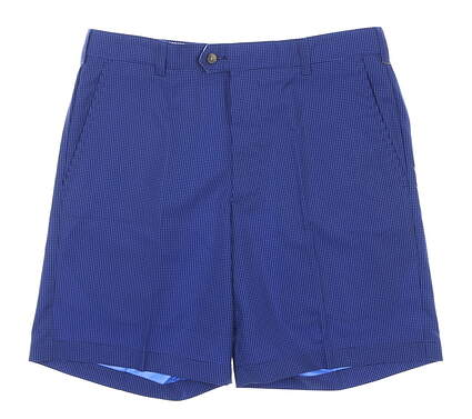 New W/ Logo Mens DONALD ROSS Shorts 42 Navy Blue MSRP $98