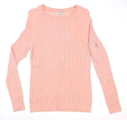 New W/ Logo Womens Fairway & Greene Cable Knit Sweater Large L Nectar MSRP $200 I12170